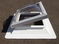 Lichtkuppel 1000x1000 klar durchsichtig doppelsch.mit Isolierglasscheibe 0,8 W/m²K mit Kranz 150 mm Höhe (9349000138)