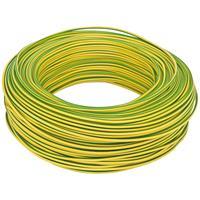 100 Meter Bund Aderleitung, 1,5² H07V - K, grün - gelb,  (99111800)