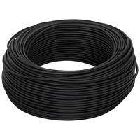 100 Meter Bund Aderleitung, 1,5² H07V - K, schwarz,  (99111801)