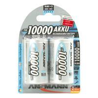2er Pack Akku, PROFESSIONAL, NiMh, 1,2V/10000 mAh, Mono (99706701)