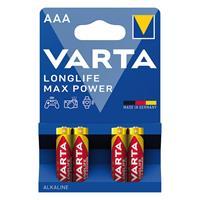 4er Pack Hochleistungs - Batterie, Alkaline, MAX TECH, Blisterware (99706865)