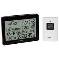 Digital-Wetterstation mit Funkuhr, WS 6760, schwarz mit Hochglanzfront (9019786046)