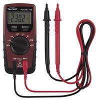 Digital-Multimeter mit T-RMS, Pocket 100, LCD-Digitalanzeige, Gleich- und Wechselspannung bis 600V (9019878003)