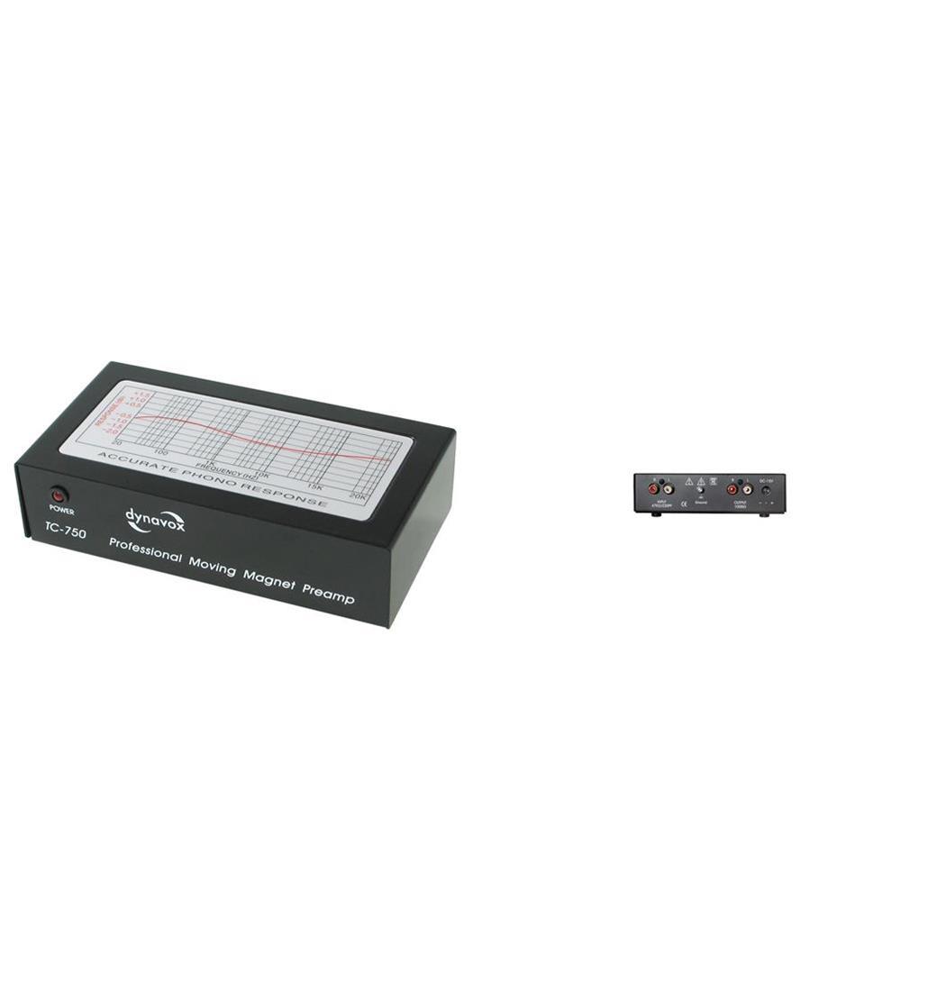 Dynavox TC-750 Profi Phonovorverstärker schwarz, Plattenspieler, Verstärker (9029201403)