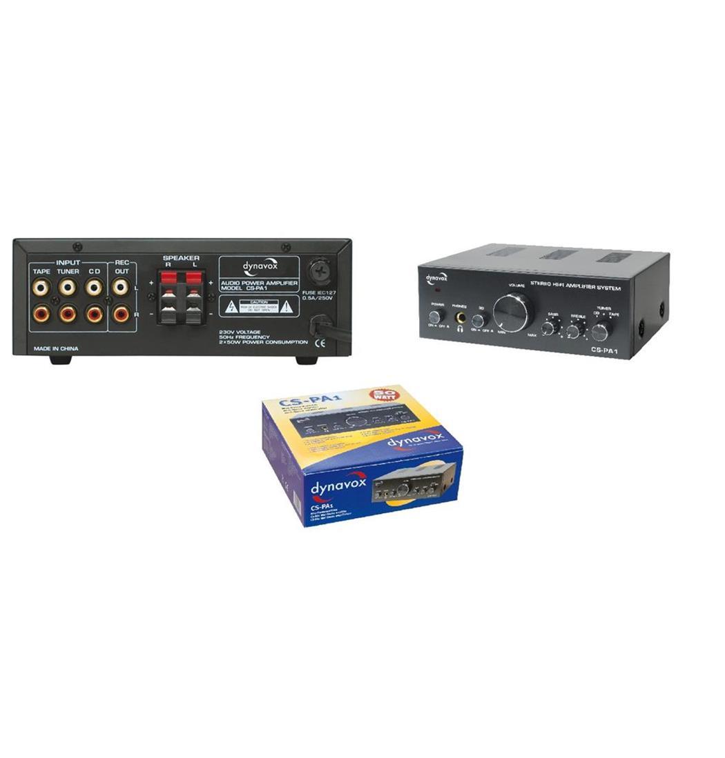 Dynavox CS-PA1 MK Mini-Verstärker 2x50W schwarz, Plattenspieler, Verstärker (9029201431)
