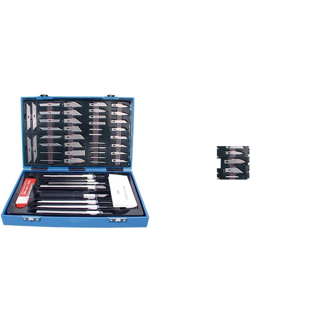Präzisions-Messer-Set 48-teilig, Skalpell, Messer, Cutter, Schnitzmesser (9029201754)