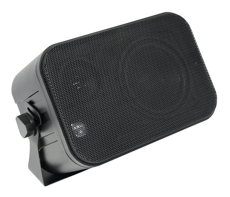 Mini-Box schwarz mit Halterung 3-Wege, Lautsprecher, Boxen (9029201873)