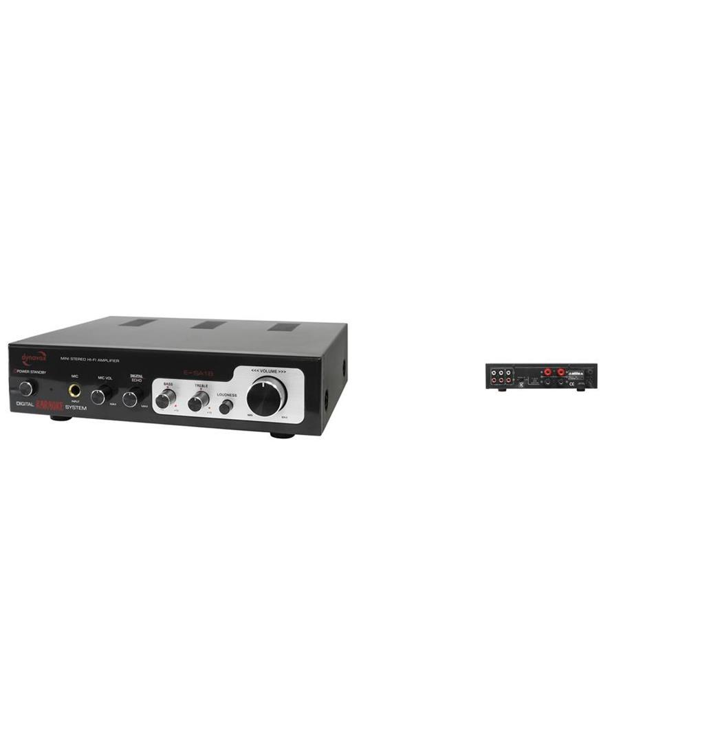 Dynavox ESA18 Mini-Verstärker 2 x75 W schwarz, Plattenspieler, Verstärker (9029202492)