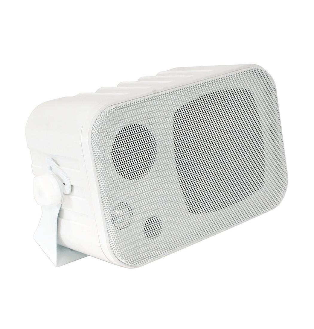 Mini-Box weiss mit Halterung 3-Wege, Lautsprecher, Boxen (9029202996)