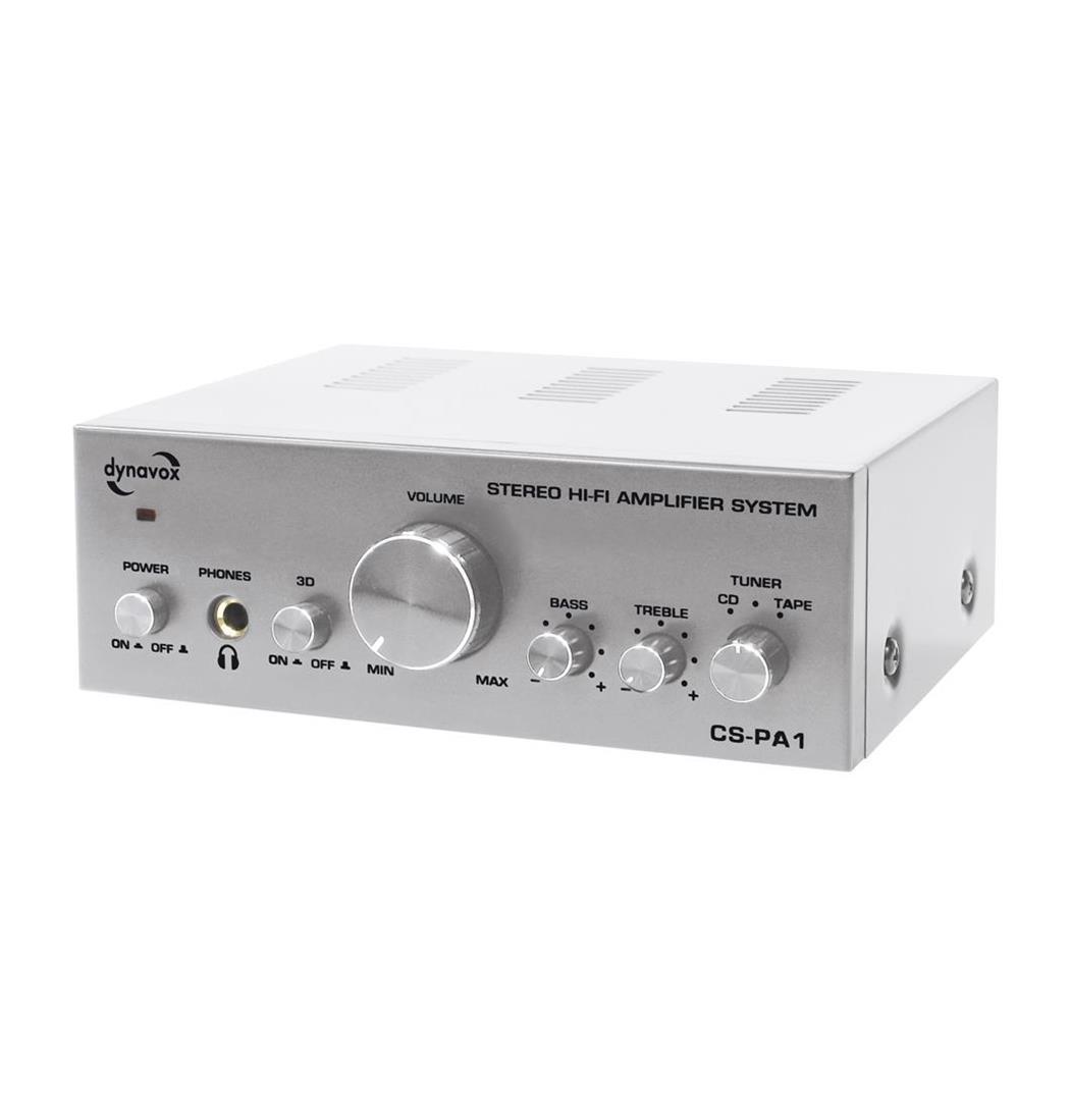 Dynavox CS-PA1 MK Mini-Verstärker 2x50W silber, Plattenspieler, Verstärker (9029203745)