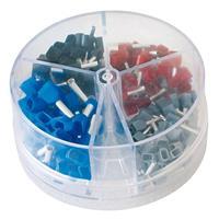 Aderendhülsen-Streudose Twin isoliert 0,75 - 2,5 mm2, Quetschverbinde?r, Flachstecker, Crimp (9029203895)