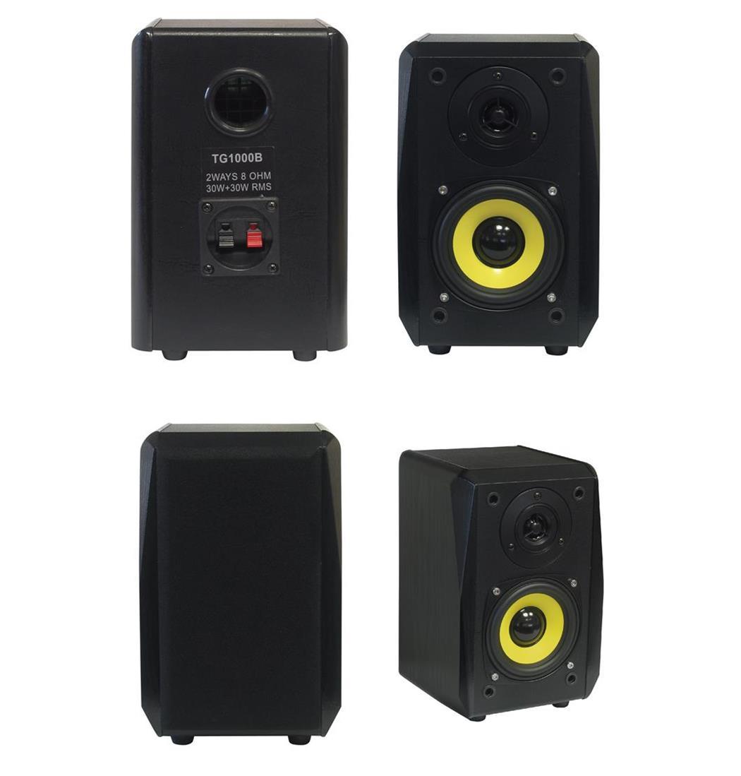 Dynavox TG-1000B Hifi Regal Box schwarz Paar, Lautsprecher, Boxen (9029203953)