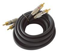 Dynavox Cinchkabel 0,5 m schwarz, Stereokabel, Audiokabel, Kabel (9029204011)
