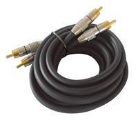 Dynavox Cinchkabel 10 m schwarz, Stereokabel, Audiokabel, Kabel (9029204015)