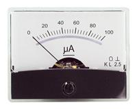 Drehspul-Einbauinstrument m.Spiegelskala 0-100uA DC, Messgerät, Messskala (9029204234)
