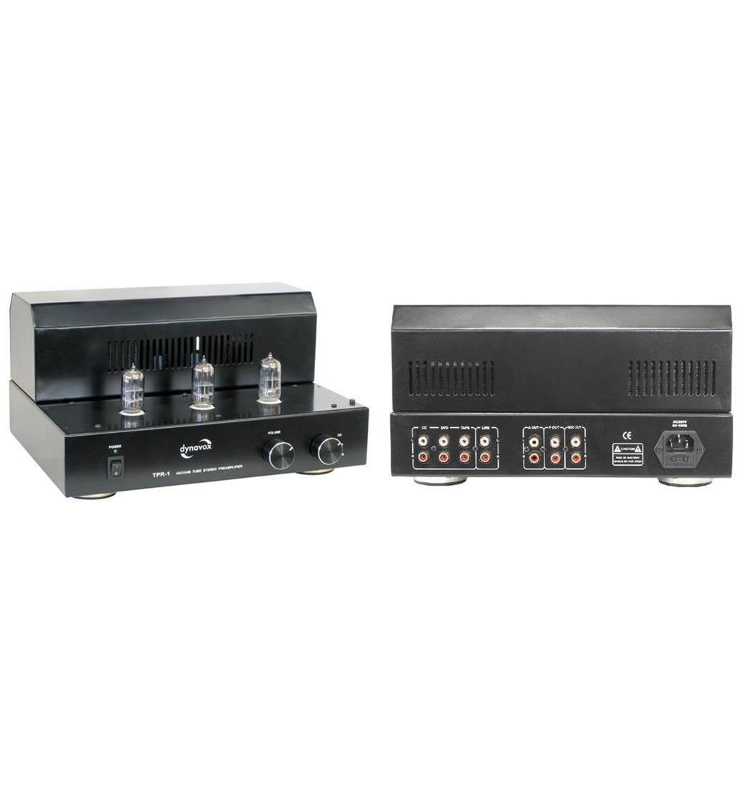 Dynavox Röhrenvorverstärker TPR-1 schwarz, Plattenspieler, Verstärker (9029204242)