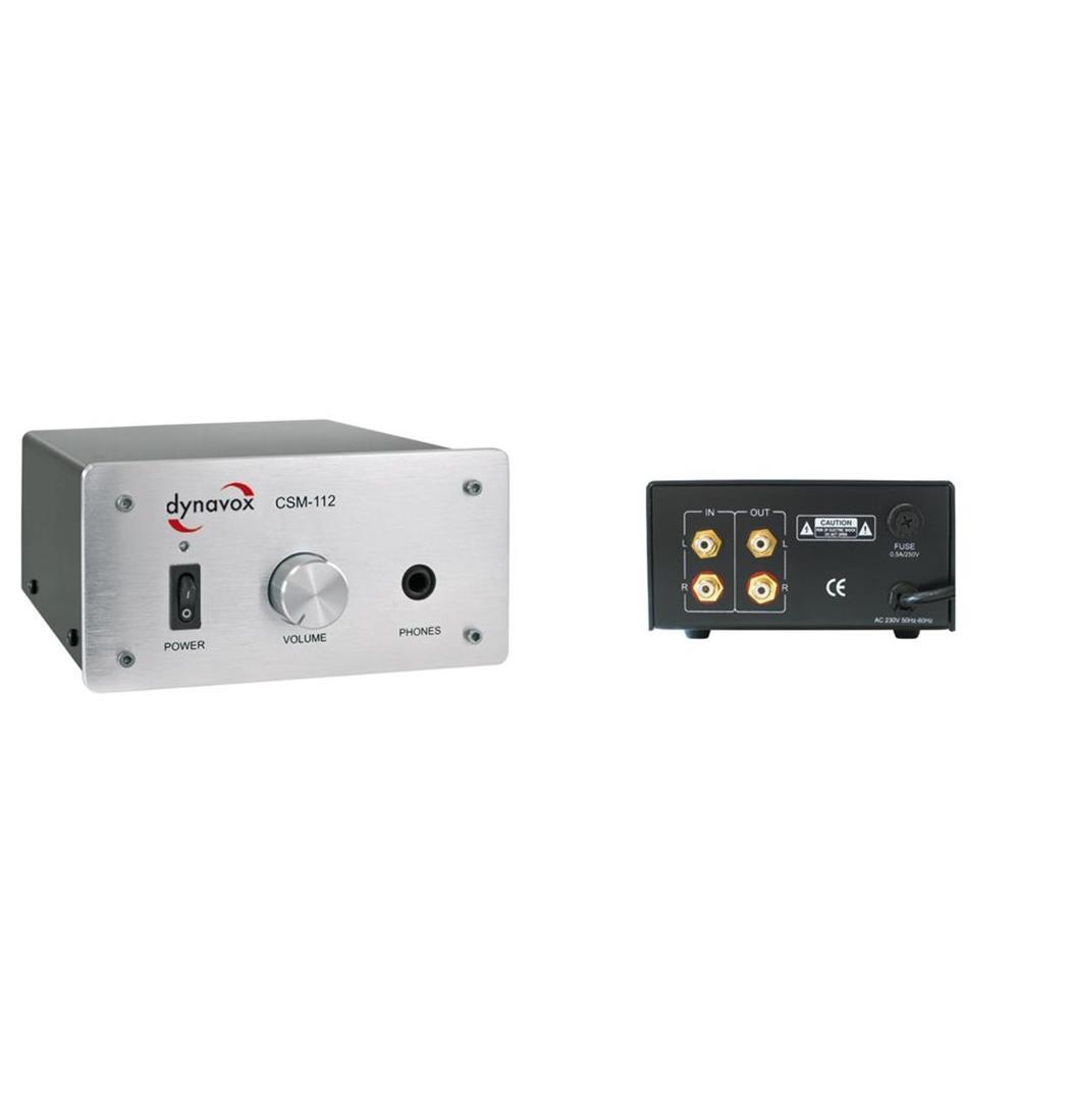 Dynavox Kopfhörerverstärker CSM-112 Silver, Plattenspieler, Verstärker (9029204246)
