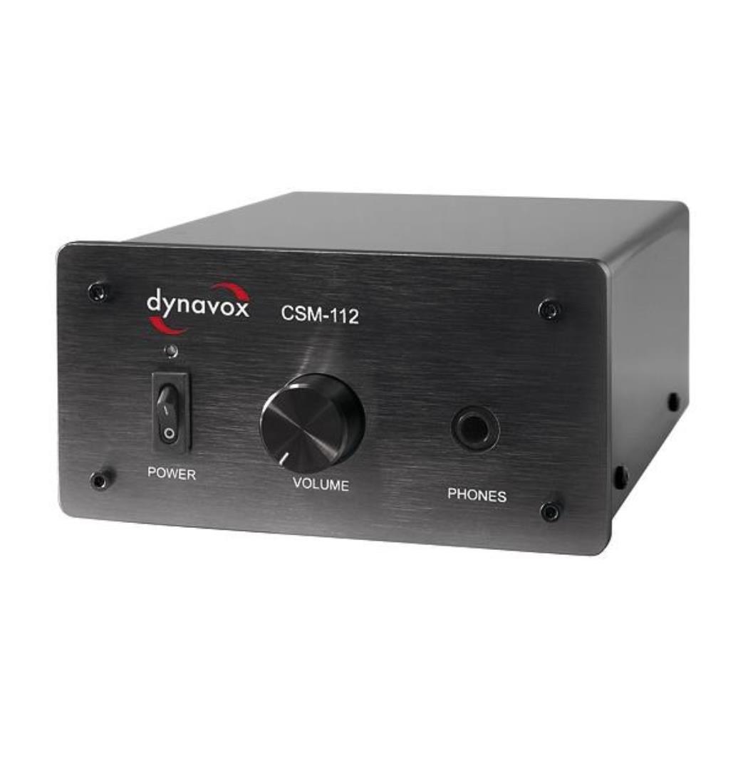 Dynavox Kopfhörerverstärker CSM-112 Black, Plattenspieler, Verstärker (9029204247)
