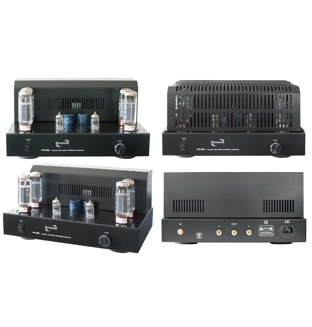 Dynavox Röhren-Mono-Vollverstärker VR-80E schwarz, Plattenspieler, Verstärker (9029204377)