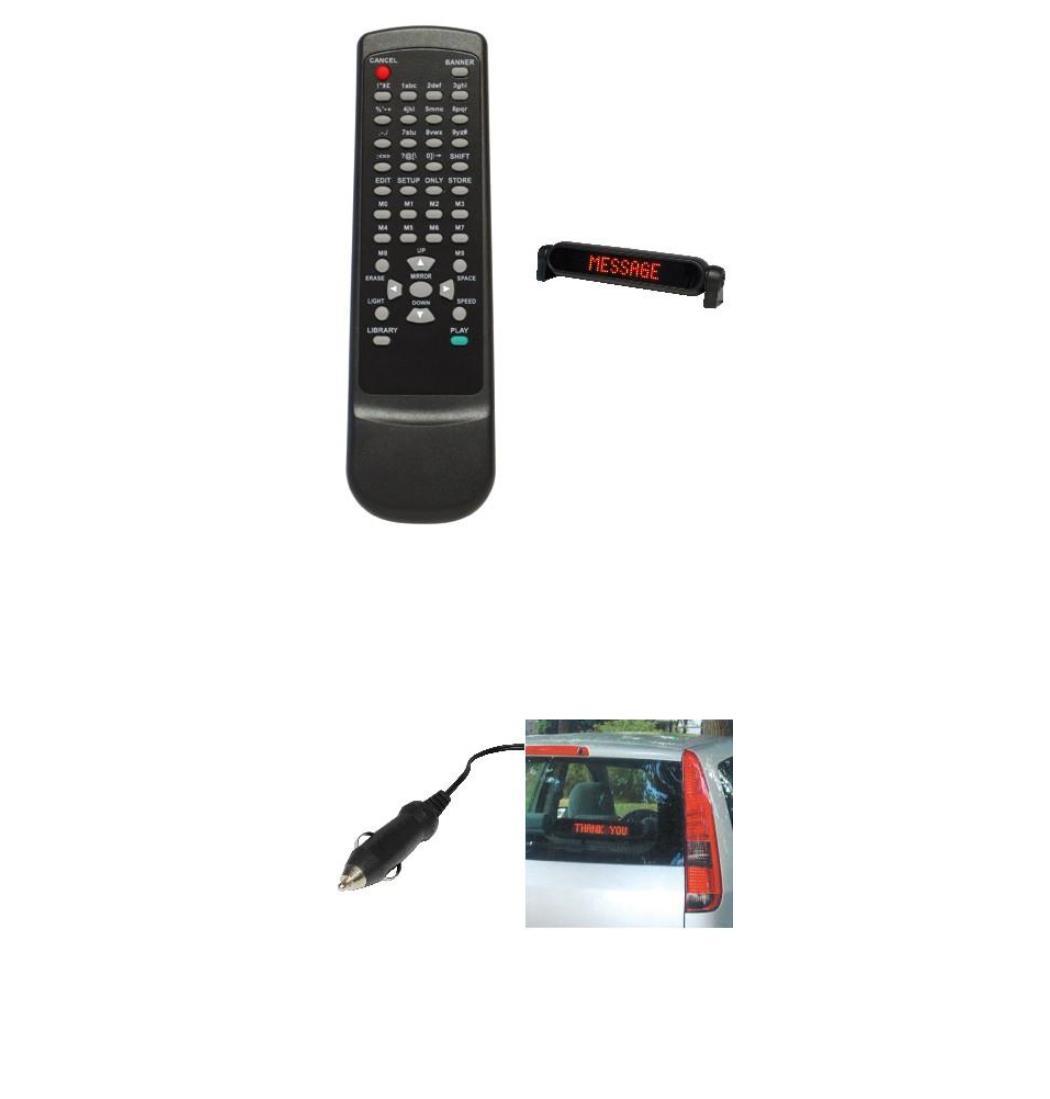 Laufschrift Car, 7 x 50 LEDs, Ticker Board, Anzeigetafel, Display, Reklametafel (9029204449)
