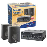Dynavox Dream Sound Set I schwarz, Plattenspieler, Verstärker (9029204485)