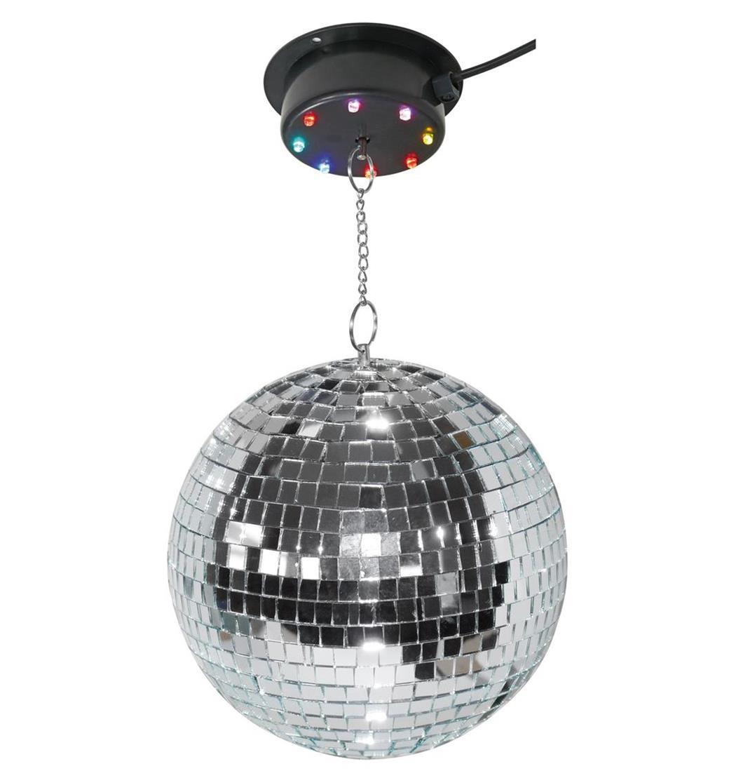 LED-Multicolor Spiegelkugel Set 200 mm, Discokugel, Drehkugel, Mirrorball (9029204792)