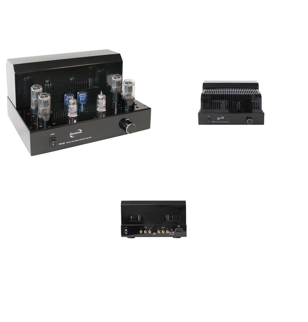Dynavox Röhrenvollverstärker VR-20 schwarz, Klangaufbereiter, Verstärker (9029204917)