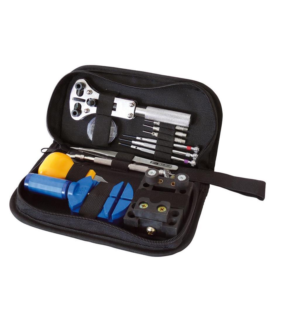 Uhrenwerkzeugset 30tlg. in Nylontasche, Werkzeugtasche, Reparaturset, Uhr (9029204969)