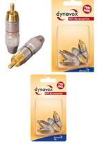 Dynavox Cinchstecker-Set rot / schwarz Blisterverpackung, Audiostecker, Stecker (9029205093)