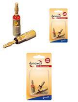 Dynavox Bananenstecker rot / schwarz 4er-Set Blisterverpackung, Audiostecker, Stecker (9029205095)