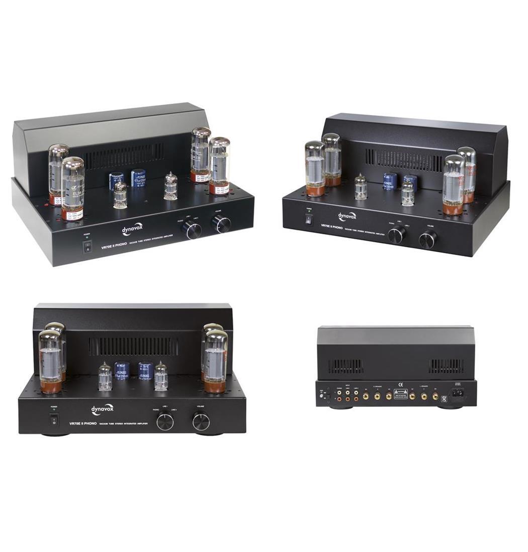 Dynavox Röhrenvollverstärker VR-70E II Phono schwarz, Plattenspieler, Verstärker (9029206046)
