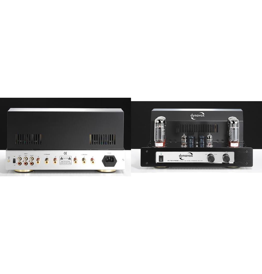 Dynavox Röhrenvollverstärker VR-70E II Phono chrom, Plattenspieler, Verstärker (9029206133)