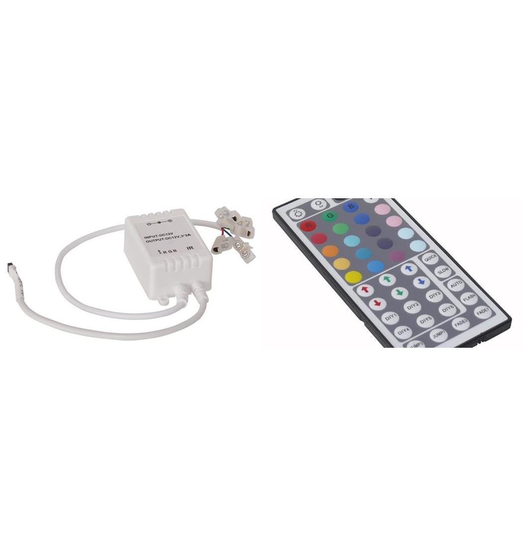 RGB-Controller mit IR-Fernbedienung Extended Version, Stripe, Lichterkette, Lichtstreifen (9029206208)
