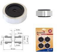 Dynavox Aluminium-Füsse für HiFi-Geräte 4er-Set schwarz, Absorber, Pucks, Gerätefüße (9029206383)