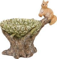 Minigarten, Blätternest mit Eichhörnchen, Höhe ca. 5,8cm (44635097351)