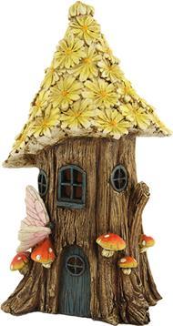 Minigarten, Baumhaus mit Blütendach Höhe ca. 29cm (44635091694)
