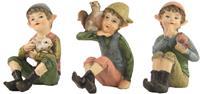 Minigarten, 3er Set Elfen mit Tieren Höhe ca. 6,5cm (44635091397)