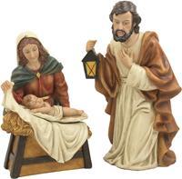 Krippenfigur, Heilige Familie 3-teilig, Höhe ca. 10cm (44635091786)