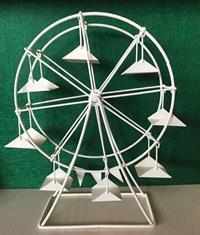 Miniatur Modell, Riesenrad, weiß Höhe 26cm (444444635096514)