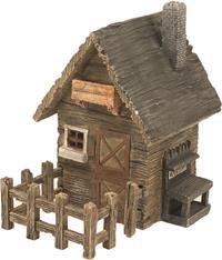 Miniatur Modell, Landhaus mit Zaun ca. 17 x 17cm Höhe 19cm  (444444635093001)