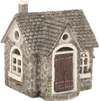 Miniatur Modell, Landhaus, Steinoptik ca. 17 x 15,5cm Höhe 18cm  (444444635093025)