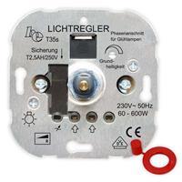 UP-Phasenanschnitt-Dimmer T35s, für Glühlampen, Druck-Wechsel-Schalter 600W (9109100430)