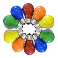 10er-Set Glühbirnen LEDmaxx 25W, farbig sortiert (rot-gelb-grün-blau-orange), E27 (9109105687)