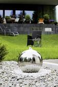 Design Gartenbrunnen Edelstahlbrunnen Atlantic Wasserbrunnen (913924003)