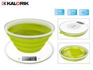 Design-Küchenwaage faltbar weiß/grün (923910082)
