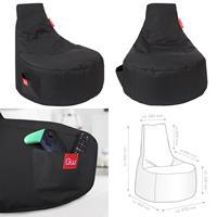 Sitzsack, Sitzkissen, Bean Bag, Alpha schwarz 80x67x80cm (925933180001)