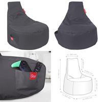 Sitzsack, Sitzkissen, Bean Bag, Alpha grau 80x67x80cm (925933180007)