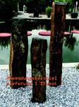 1 Stück Basalt-Säule, Steinsäule natur, Fuß gesägt, Ø 15-22 x H 100 cm (92790985503)