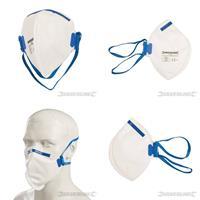 Atemschutzmaske, flach gefaltet, FFP-2 NR, Einweg, Schutzmaske, Arbeitsschutz, S (9299102680)