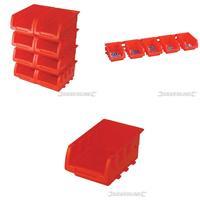 Sichtstapelkästen, 8 teilig Satz, 165x105x75 mm, Lagerboxen, Lagersichtbehälter, Stapelboxen, Lagersysteme (9299250968)